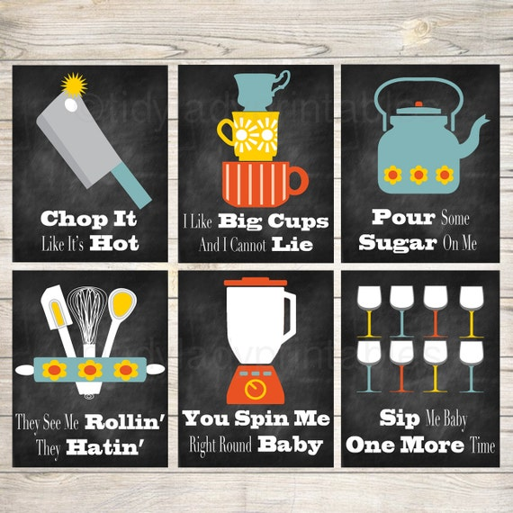 Kitchen Art 32cm: Funny Kitchen Wall Art Kitchen Decor PRINTABLE Signs. INSTANT
