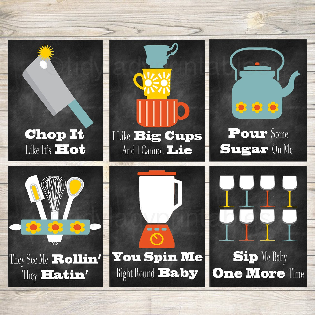 Funny Kitchen Wall Art Kitchen Decor PRINTABLE Signs. INSTANT
