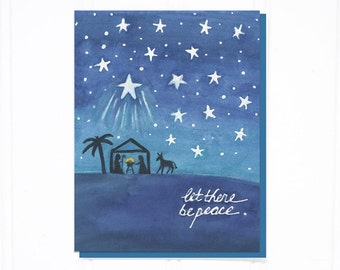 Box of 8 - Let There Be Peace Christmas Card