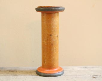 Vintage Industrial Wood Spool