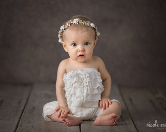 Vanilla Halo, Newborn Halo, Baby Halo, Photo Prop, Newborn Crown, Floral Halo, Infant, Hair Accessories, Baby Headband, Floral Headband