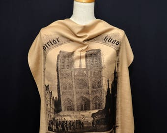 The Hunchback of Notre-Dame (Notre-Dame de Paris) by Victor Hugo Scarf/Shawl/Wrap - English version