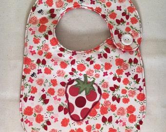 Polka Dot Strawberry Infant Bib