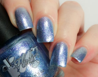 Nail Polish, Indiepolish, sky blue glitter