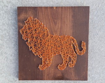 Made to Order String Art Lion Sign