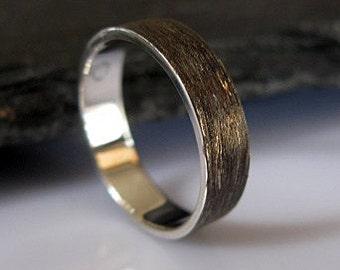 Size 8-1/2 Mens Wedding Ring 5mm Mens Wedding Band Rustic Wedding Unique Mens Wedding Band Viking Wedding Ring Mens Wedding Rings Silver