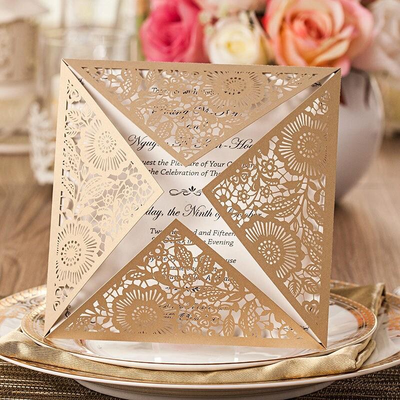 50 Bronze Floral Wedding Invitation Kit/DIY Victorian Wedding ...