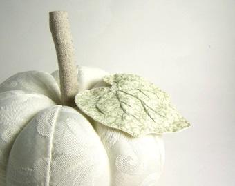 Handmade Ivory Jacquard Decorative Pumpkin