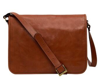 DEVIN Italian messenger bag, messenger bag women, messenger bag men, vintage messenger bag, leather messenger bag, laptop bag, shoulder bag