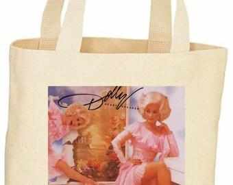 Dolly Parton vintage style custom tote bag