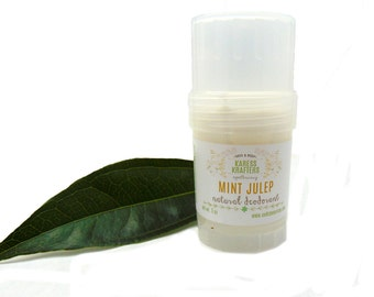 Mint Julep Natural Deodorant -  Aluminum Free - 24-Hour Protection - Shea Butter- Coconut Oil - Essential Oils - Vitamin E - Gentle