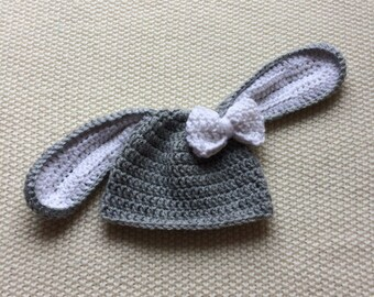 Girl Bunny Bonnet, Baby Bunny Bonnet, Bunny Bonnet, Girl Bunny Hat, Bunny Hat, Baby Girl Bunny Hat, Newborn Bunny Hat, Crochet Bunny Hat