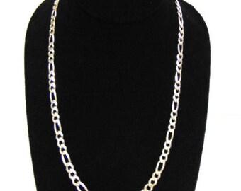 Vintage Estate Sterling Silver Chain Link Necklace 25.3g #E3777