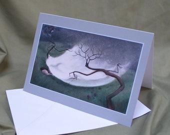 Blanket of snow- greetings card