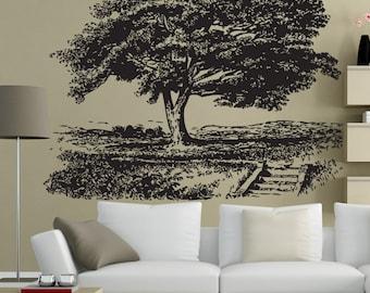 Vinyl Wall Art Decal Sticker Park Tree 1535s