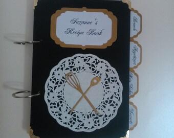 Recipe Book, Blank Cookbook, Personalized Hostess Gift, Family Gift Recipe Book, recipe book, Recipe storage