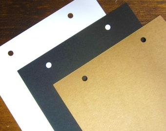 10 EXTRA PAGES A4/A5 White/Black/Kraft Ring Binding Book Pages