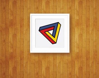 Confusion - Abstract Pop Art Mod Geometric Print