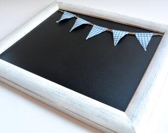 White Framed Chalk Board, Chalkboard, Black Board, Gift, Boys Gift, Kids Room, 1st Day of School, Photo Prop, Bulletin Board,