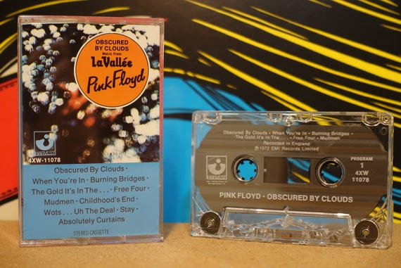 Obscured By Clouds by Pink Floyd Vintage Cassette Tape
