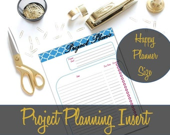 Happy Planner Inserts, Project Planner Insert, To Do List, Project Organizing, Project Organizer, Happy Planner Refill, Printable Pages