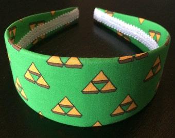 Triforce Headband, Legend of Zelda Headband, Nintendo Headband, Link Headband, Videogame Geekery