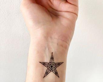 Star Print - Temporary Tattoo