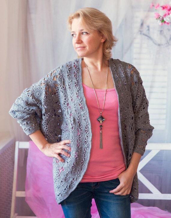 Bat Sleeve Crochet Cardigan Pattern Wool Cardigan Tutorial Warm