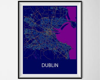 Dublin Poster Print - Night