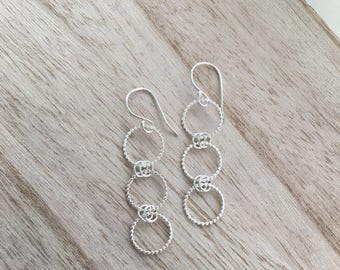 Three Ring Dangle Earrings