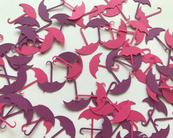 Pink and Purple Umbrella Confetti - Baby Shower Decorations - Baby Girl Baby Shower Decorations - Umbrella Baby Shower Decor