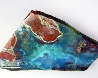 Exceptionally Colorful Chrysocolla Gem Silica Rough Slab AZ - Free US Shipping!