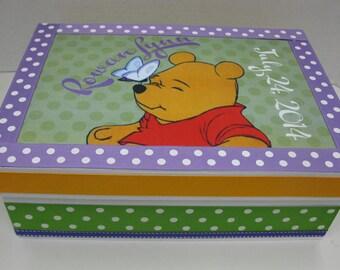 Winnie Keepsake Box Personalized w Birthdate