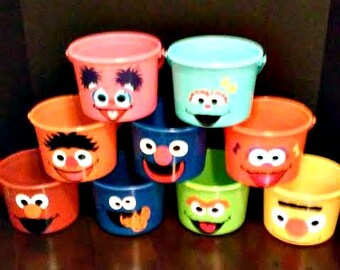 SESAME STREET BIRTHDAY party favor pails (price is per pail)