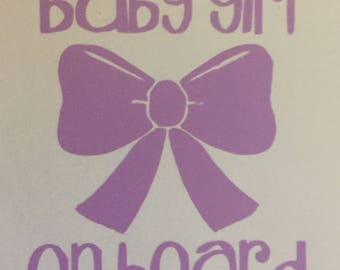 Baby Girl on Board Decal