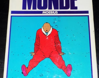 """BD Moebius """"World killer"""" + drawing by the artist signed"""