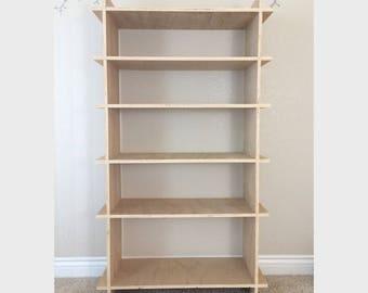 Super EZ Shelf Kit, Wood Bookcase Shelving Unit, Wooden Bookshelf with Display Shelving, Unfinished Wood Bookshelves for Living Room