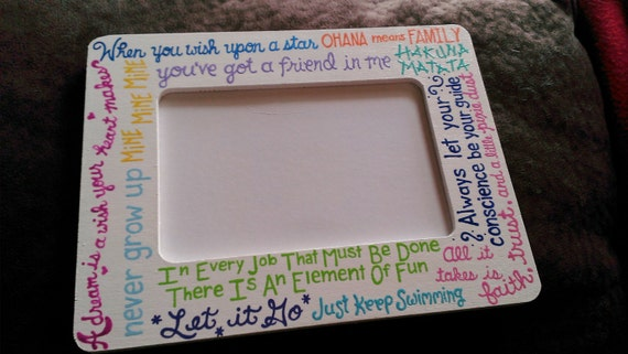 Personalized Custom Hand Painted 4x6 Wooden Picture Frame - Disney ...