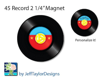 Personalized 45 Record Magnet