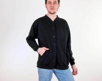 Vintage Knit Bomber Jacket Sweater