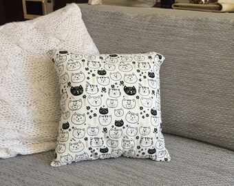 Cat Face Cushion Cover