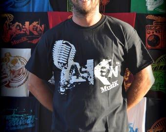 "T-shirt ASKAN UNITED ""Micro"" - Tee shirt black - white glow ink"