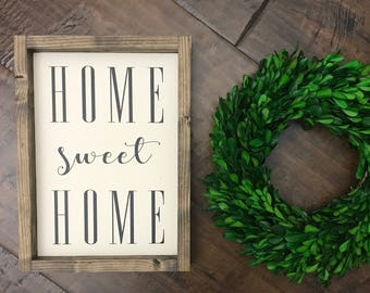 XS Home Sweet Home Sign | Wood Sign | Farmhouse Style | Farmhouse Decor | Farmhouse Sign | Home Decor | Lets Be Homebodies | Fixer Upper