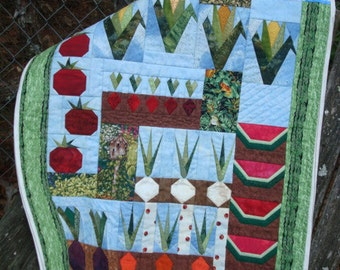 Vegetable Garden Quilted Wall Hanging