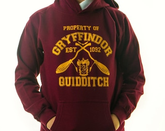 HARRY POTTER HOODIE Inspired Gryffindor Quidditch Team Jumper Adults Hoody Jumper