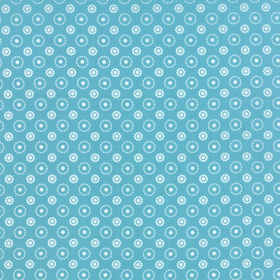 Meadow Bloom April Rosenthal Prairie Grass Quilt Fabric With Flowers And Circles Of Dots In Soft Retro Baby Blue By The Yard 24026 20