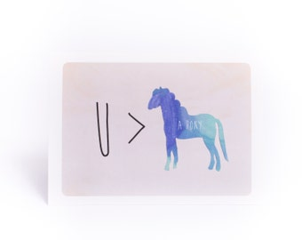 You're greater than a pony card