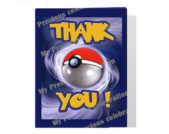 POKEMON Thank You Cards - DIGITAL