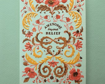 Beyond belief etsy awesome beyond belief congratulations card stopboris Image collections