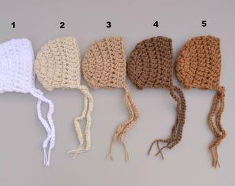 Crochet Baby Bonnet Baby Boy Girl Bonnet Newborn Baby Bonnet Newborn baby Photography Prop Baby Boy Bonnet Hat Baby Boy Hat Baby Girl Hat